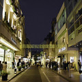 写真: 夕暮の元町商店街
