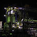 写真: 岳南沿線の工場夜景