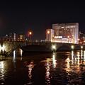 夜の萬代橋
