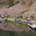 Photos: 湖畔の釣り人