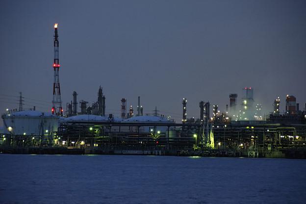 京浜運河の夕景