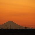 Photos: 夕景・・・茨城:小貝川畔からの富士