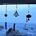 写真: 海と風鈴
