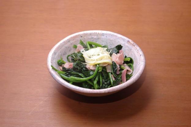 IMGP0207ほうれん草のベーコン炒め