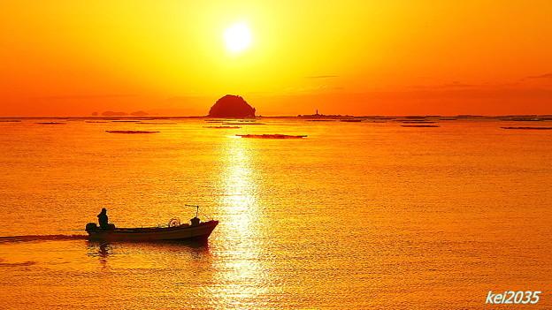 錦海湾の朝景No.4