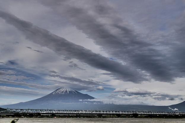 雨上がりの富士川で