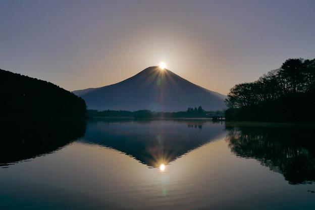 田貫湖 ダイヤモンド富士 2018