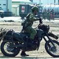Photos: オートバイ偵察部隊