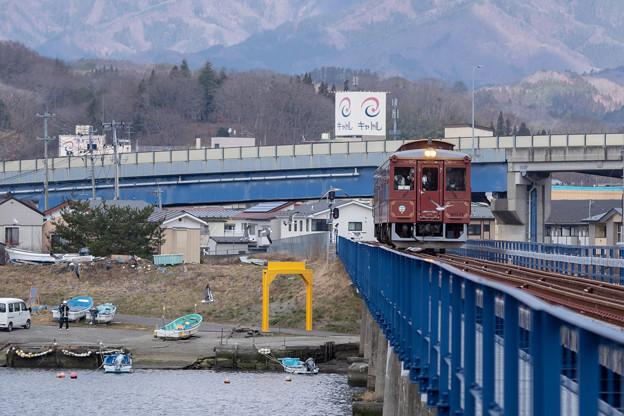 三陸鉄道 宮古駅付近(第34閉伊川橋梁)