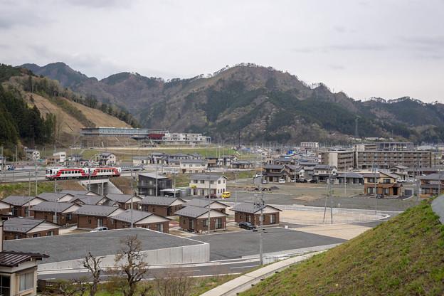 三陸鉄道 鵜住居駅付近