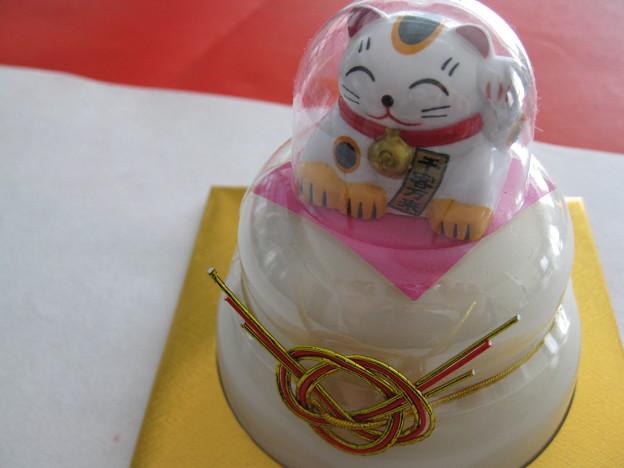鏡開き 招き猫のお供え餅