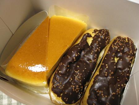 柳月 チーズケーキとエクレア