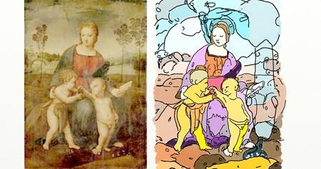 ラファエロひわの聖母2
