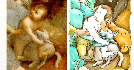 ダヴィンチ聖アンナと聖母子4