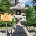 善光寺(長野市元善町)高尾燈籠