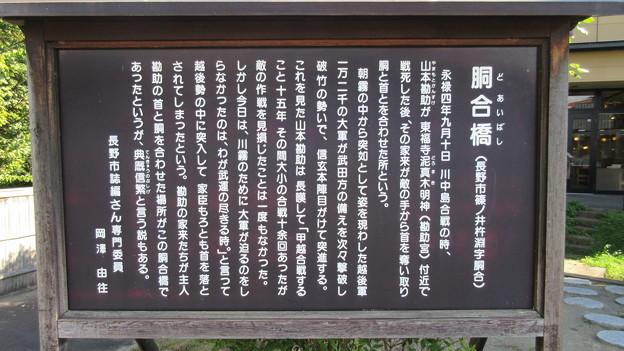 胴合橋(長野市篠ノ井)