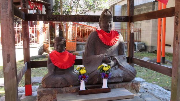 三囲稲荷神社(向島2丁目)老翁老嫗石像