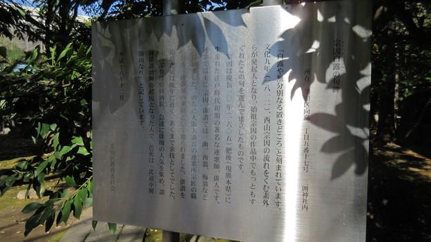 三囲稲荷神社(向島2丁目)宗因白露句碑