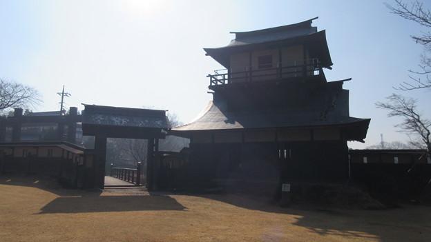 逆井城 二層櫓(茨城県坂東市営 逆井城跡公園)