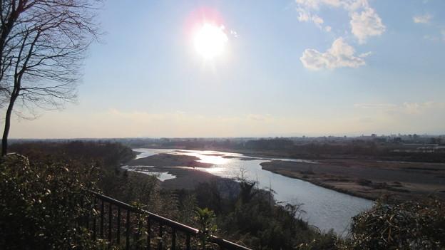 飛山城(宇都宮市営 飛山城史跡公園)3号堀西端より南西