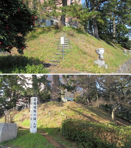 厩橋城(前橋城。群馬県)本丸土塁