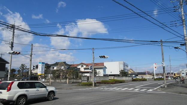 蒼海城(前橋市)総社神社より北西