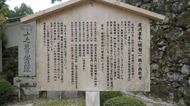 西教寺(大津市)妻木一族供養塔