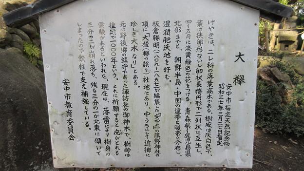 安中城(安中市)鬼門除け 熊野神社
