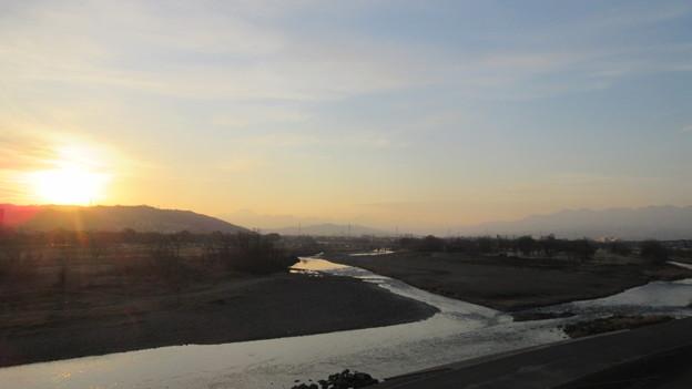 Photos: 烏川・碓氷川(高崎城より(和田城。高崎市))