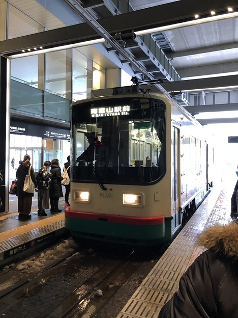 市電富山駅乗り場(富山市)