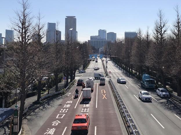 信濃町歩道橋より(新宿区)