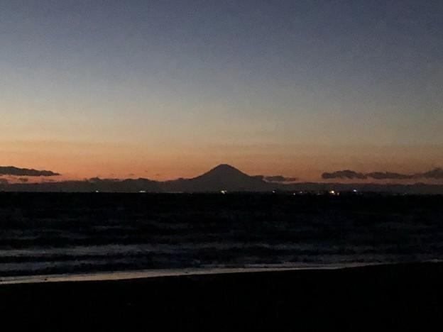 岩井海水浴場(南房総市)富士