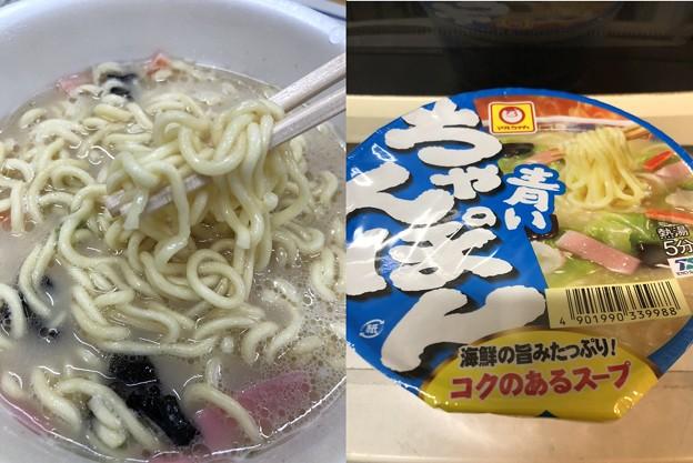 青いちゃんぽん(゜◇、゜)