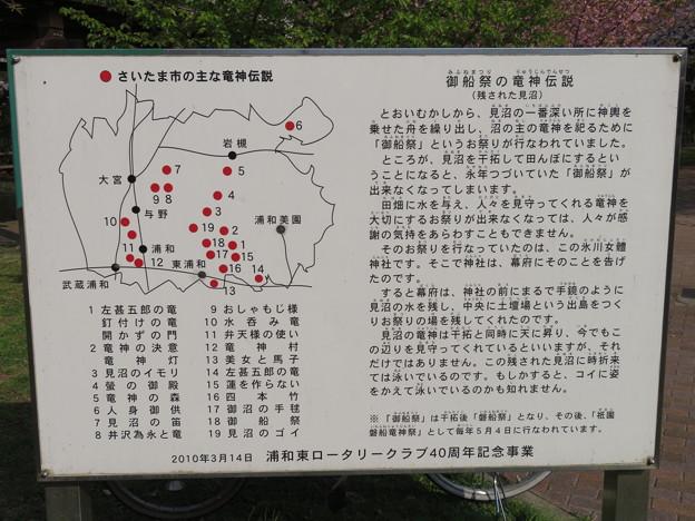 見沼氷川公園(見沼区)御船祭 竜神伝説