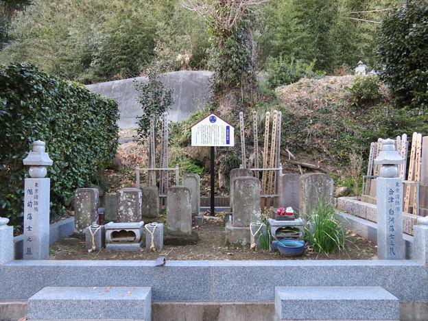 延命寺(富津市)会津藩士墓地