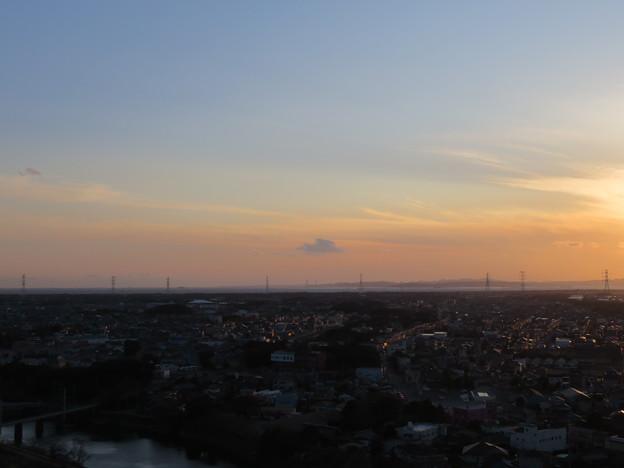 写真: 人見神社(君津市)より三浦半島