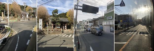 江ノ島電鉄 江ノ島駅を通過(藤沢市)