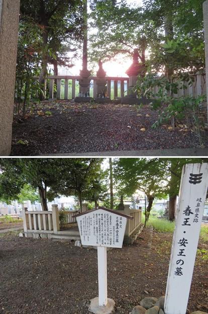 春王・安王の墓(不破郡垂井町)