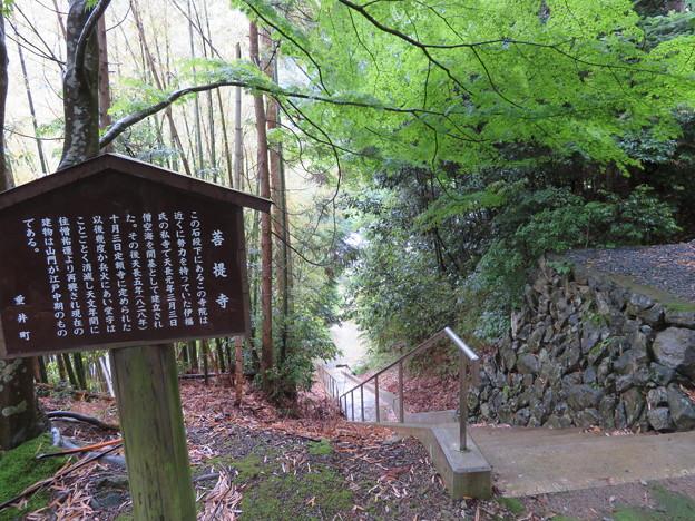 菩提山城(垂井町)登城口・菩提寺境内入口