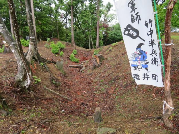 菩提山城(垂井町)空堀