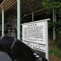 高岡城(高岡市。高岡古城県定公園)蒸気機関車展示