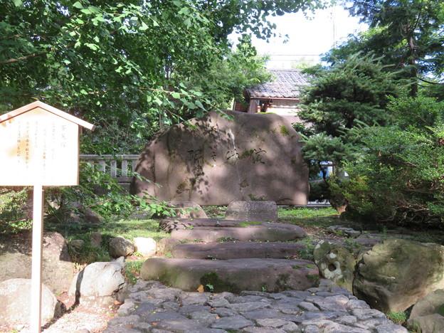高瀬神社(南砺市)茶筅塚