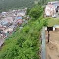 神岡城(飛騨市)より西北面断崖