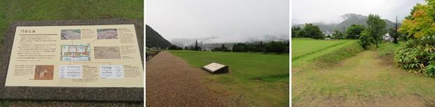 江馬氏館(飛騨市。江馬氏館跡庭園)門前区画
