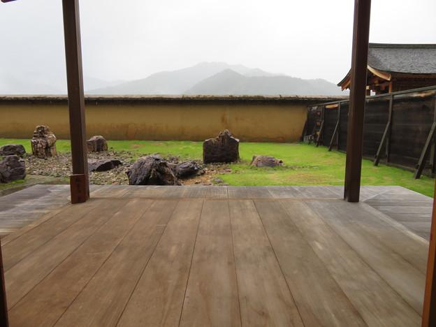 江馬氏館 会所(飛騨市)月見台