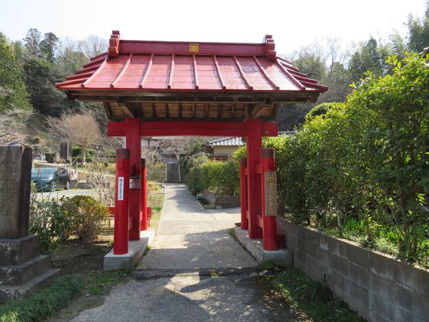 Photos: 庁南城(長生郡長南町)/長久寺山門