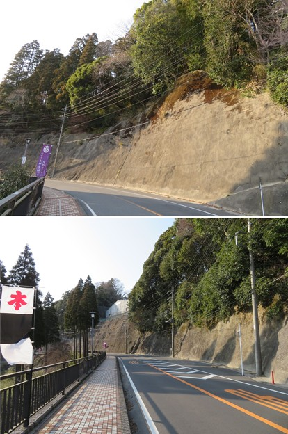 大多喜城(千葉県夷隅郡大多喜町)南断崖