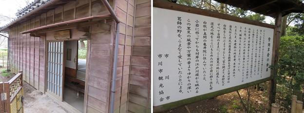 北原白秋 復元紫烟草舎(市川市営 里見公園)