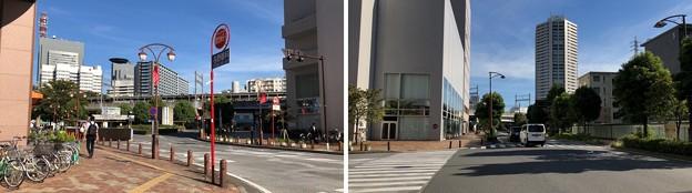 JR埼京線北与野駅(さいたま市中央区)北口ロータリー~北西の道