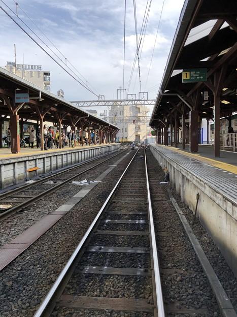 江ノ電江ノ島駅(藤沢市)鎌倉方面